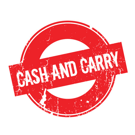 Cash And Carry rubber stamp