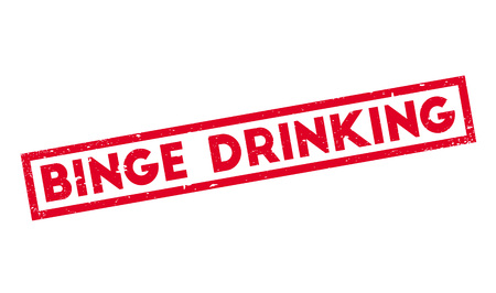 intoxicated: Binge Drinking rubber stamp