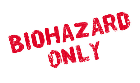 Biohazard Only rubber stamp