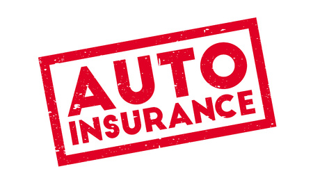 Auto Insurance rubber stamp
