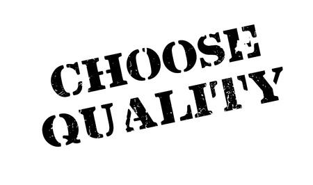 affirmation: Choose Quality rubber stamp Illustration