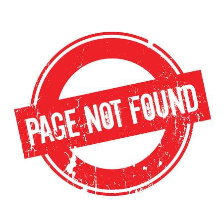 Page Not Found rubber stamp
