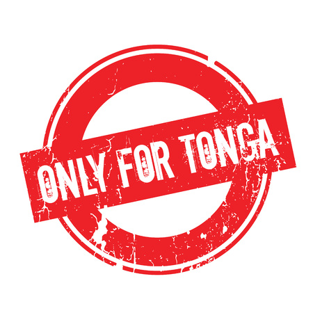Only For Tonga rubber stamp