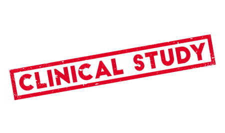 Clinical Study rubber stamp Illustration