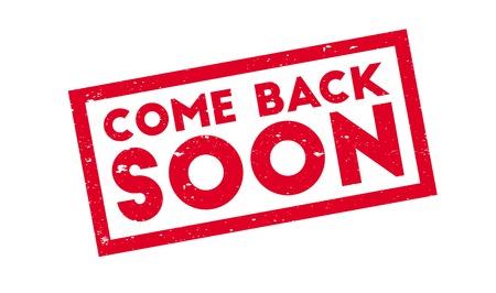 Come Back Soon rubber stamp Illusztráció