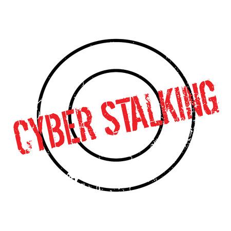 stalking: Cyber Stalking rubber stamp Illustration