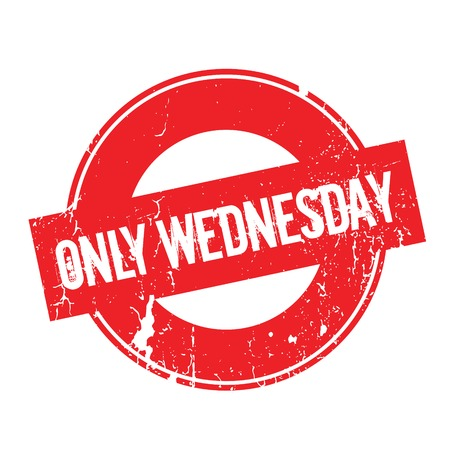 Only Wednesday rubber stamp