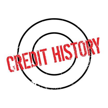 Credit History rubber stamp Illustration