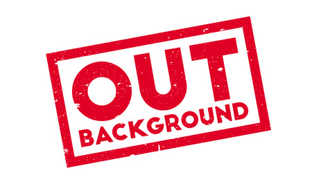 Out Background rubber stamp