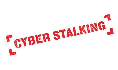 Cyber Stalking rubber stamp Illustration