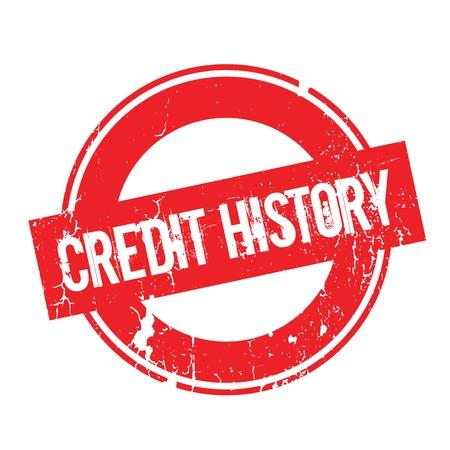 praise: Credit History rubber stamp Illustration