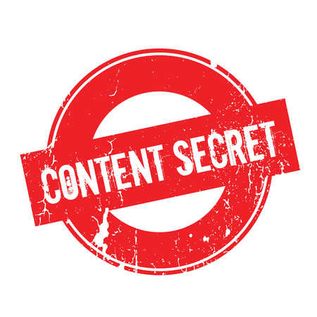 Content Secret rubber stamp