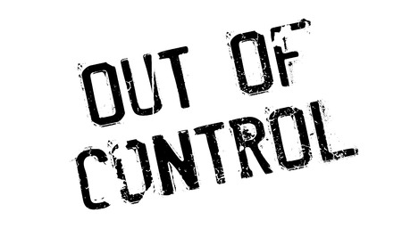 Out Of Control rubber stamp Illustration