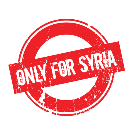 Only For Syria rubber stamp