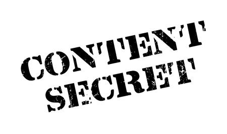 Content Secret rubber stamp