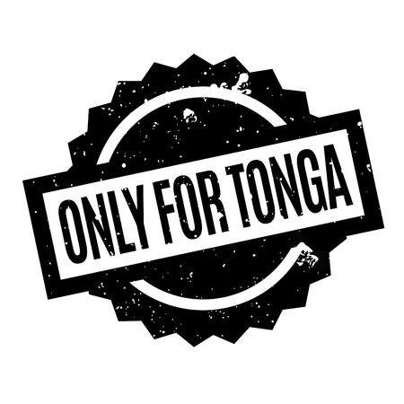 oceania: Only For Tonga rubber stamp