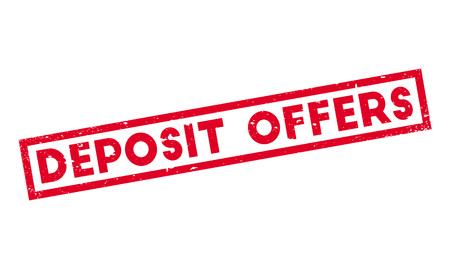 Deposit Offers rubber stamp Vector Illustration