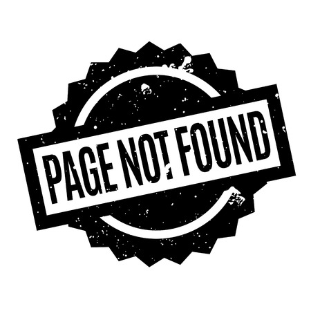 icons site search: Page Not Found rubber stamp