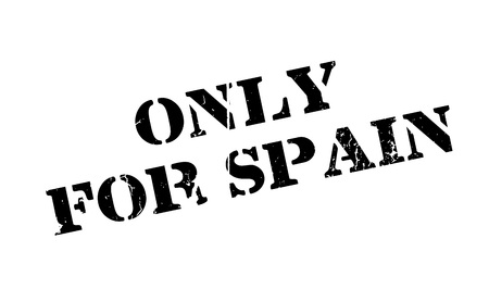 Only For Spain rubber stamp