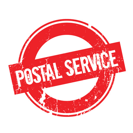 sender: Postal Service rubber stamp. Grunge design with dust scratches. Effects can be easily removed for a clean, crisp look. Color is easily changed.