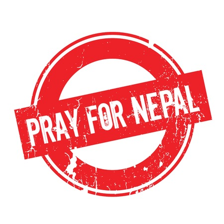 Pray For Nepal rubber stamp. Grunge design with dust scratches. Effects can be easily removed for a clean, crisp look. Color is easily changed.