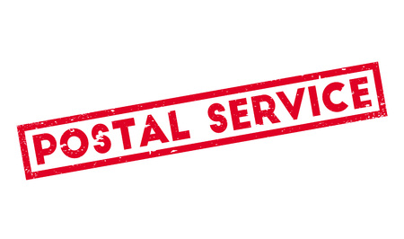postmaster: Postal Service rubber stamp. Grunge design with dust scratches. Effects can be easily removed for a clean, crisp look. Color is easily changed.