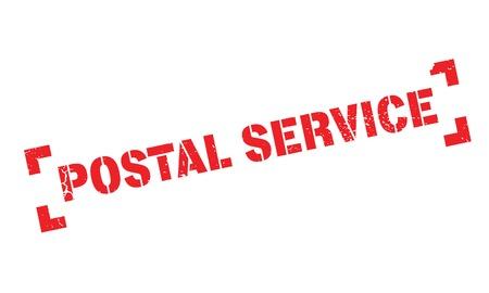 Postdienst rubberzegel. Grunge ontwerp met stof krassen. Effecten kunnen gemakkelijk worden verwijderd voor een schone, frisse uitstraling. Kleur is gemakkelijk te veranderen. Vector Illustratie