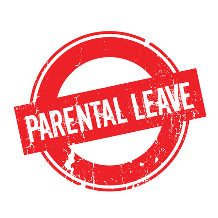 Parental Leave rubber stamp. Grunge design with dust scratches. Effects can be easily removed for a clean, crisp look. Color is easily changed.