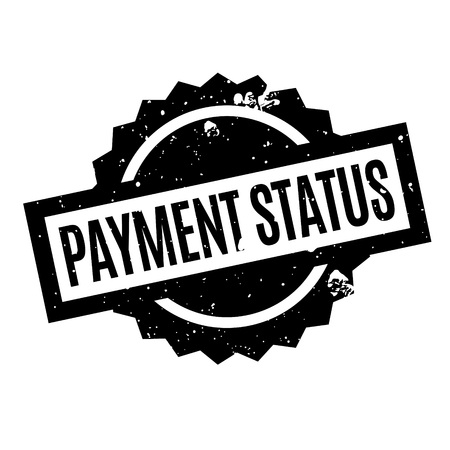 Payment Status rubber stamp. Grunge design with dust scratches. Effects can be easily removed for a clean, crisp look. Color is easily changed.