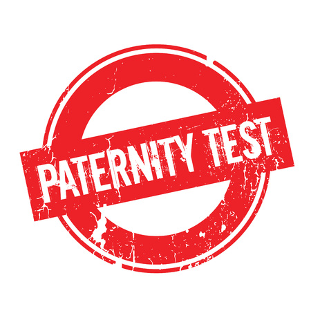 Paternity Test rubber stamp. Grunge design with dust scratches. Effects can be easily removed for a clean, crisp look. Color is easily changed.