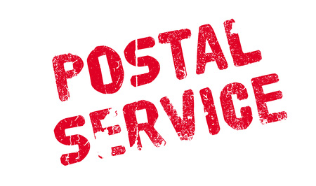 Postal Service rubber stamp. Grunge design with dust scratches. Effects can be easily removed for a clean, crisp look. Color is easily changed.