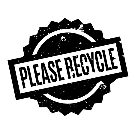 Please Recycle rubber stamp. Grunge design with dust scratches. Effects can be easily removed for a clean, crisp look. Color is easily changed.