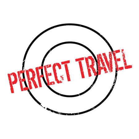 Perfect Travel rubber stamp. Grunge design with dust scratches. Effects can be easily removed for a clean, crisp look. Color is easily changed.
