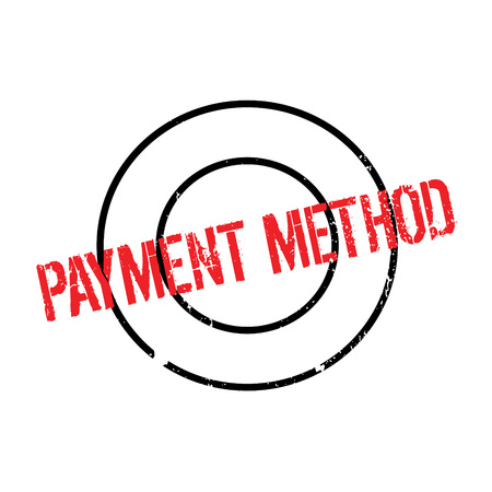 Payment Method rubber stamp. Grunge design with dust scratches. Effects can be easily removed for a clean, crisp look. Color is easily changed.