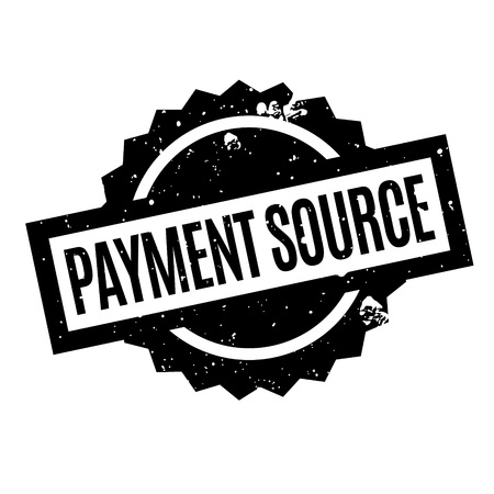 fountainhead: Payment Source rubber stamp. Grunge design with dust scratches. Effects can be easily removed for a clean, crisp look. Color is easily changed.