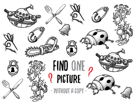 funny pictures: Find one picture educational game