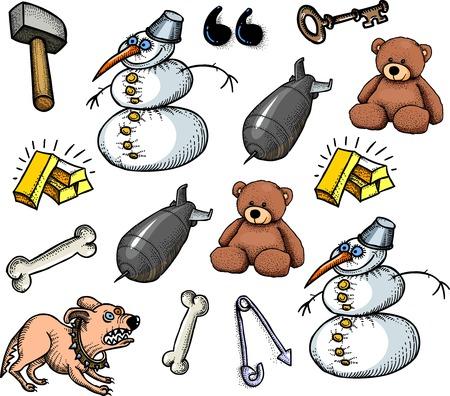 cute bear: Cartoon characters seamless pattern
