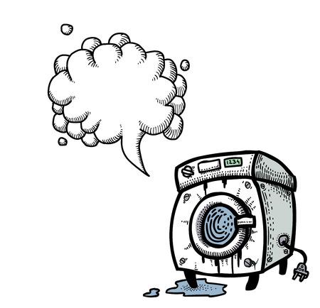 washing machine-100 Illustration