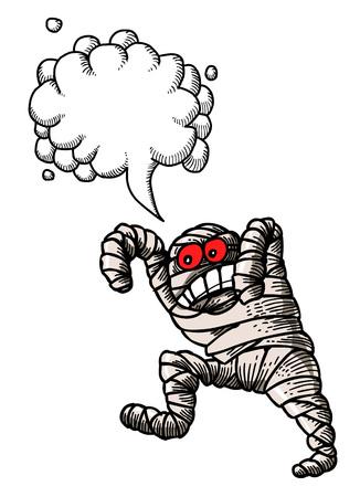 bandaged mummy-100 Illustration