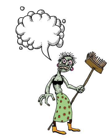 undead monster lady cleaning-100