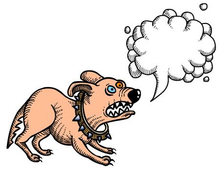 Cartoon image of annoyed dog