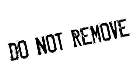 Verwijder de rubberen stempel niet Stockfoto - 78856611