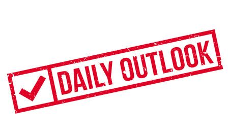 Daily Outlook rubber stamp Vektoros illusztráció