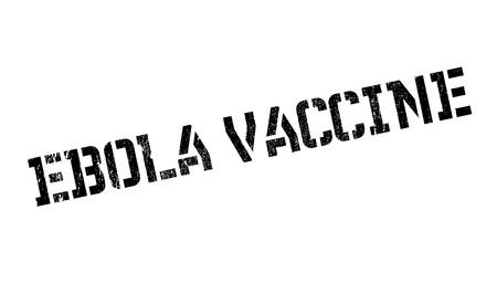 Ebola Vaccine rubber stamp Ilustração