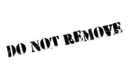 Verwijder de rubberen stempel niet Stockfoto - 78856985