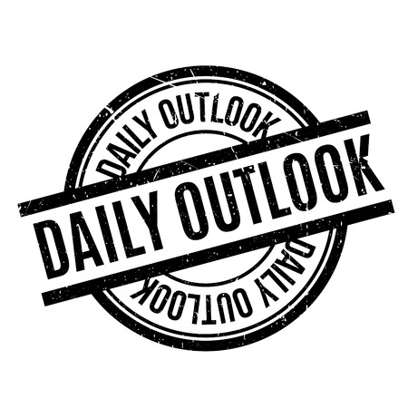 outlook: Daily Outlook rubber stamp