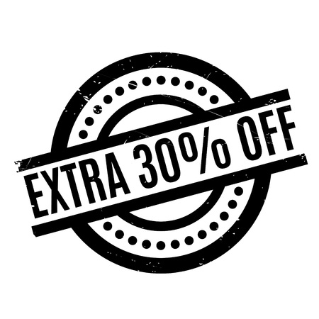 Extra 30% Off rubber stamp Stock Photo