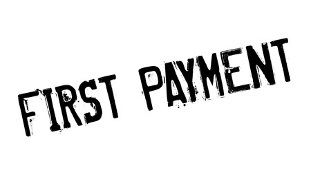 beginnings: First Payment rubber stamp