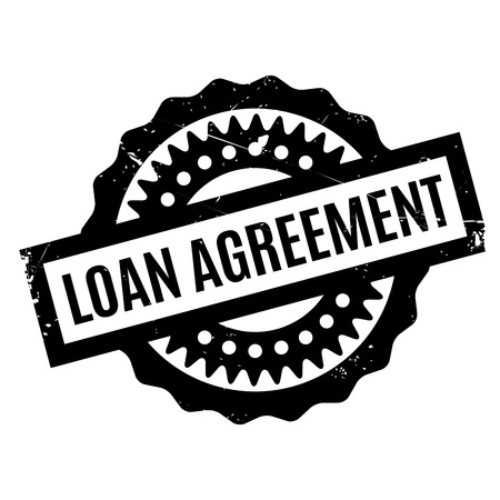 lending: Loan Agreement rubber stamp Illustration