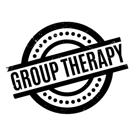 Group Therapy rubber stamp. Grunge design with dust scratches. Effects can be easily removed for a clean, crisp look. Color is easily changed. Illustration